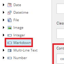Markdownフィールドサムネイル